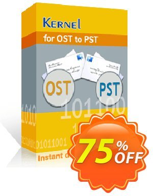 Kernel for OST to PST Coupon discount Kernel for OST to PST - Home User License staggering promotions code 2020. Promotion: staggering promotions code of Kernel for OST to PST - Home User License 2020