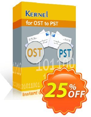 Kernel for OST to PST Coupon, discount Kernel for OST to PST - Personal License Marvelous discounts code 2020. Promotion: Marvelous discounts code of Kernel for OST to PST - Personal License 2020