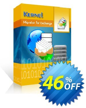 Kernel Migrator for Exchange (250 Mailboxes) Coupon, discount Kernel Migrator for Exchange ( 101 - 250 Mailboxes ) Staggering offer code 2020. Promotion: Staggering offer code of Kernel Migrator for Exchange ( 101 - 250 Mailboxes ) 2020