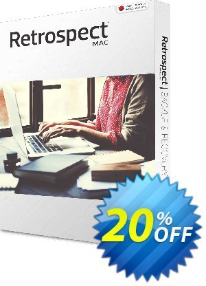 Retrospect Solo for Mac Coupon, discount Retrospect Solo v.16 for Mac best discounts code 2019. Promotion: best discounts code of Retrospect Solo v.16 for Mac 2019