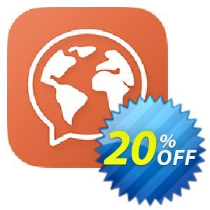 Mondly Premium 1 Language - Monthly Subscription 프로모션 코드 20% off Mondly 프로모션: awesome sales code of Mondly Premium 1 Language - Monthly Subscription 2020