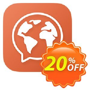 Mondly Premium 1 Language - Monthly Subscription Coupon, discount 20% off Mondly. Promotion: awesome sales code of Mondly Premium 1 Language - Monthly Subscription 2020
