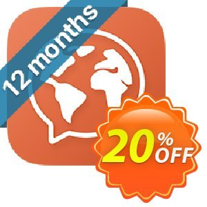 Mondly Premium 1 Language - Annual Subscription Coupon discount 20% off Mondly - amazing offer code of Mondly Premium 1 Language - Annual Subscription 2020