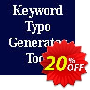 Keyword Typo Generator Script Coupon, discount Keyword Typo Generator Script excellent offer code 2020. Promotion: excellent offer code of Keyword Typo Generator Script 2020