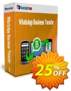 Backuptrans WhatsApp Business Transfer discount coupon 22% OFF Backuptrans WhatsApp Business Transfer, verified - Special promotions code of Backuptrans WhatsApp Business Transfer, tested & approved