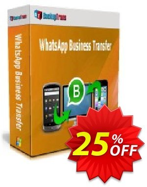 Backuptrans WhatsApp Business Transfer (Family Edition) discount coupon 10% OFF Backuptrans WhatsApp Business Transfer (Family Edition), verified - Special promotions code of Backuptrans WhatsApp Business Transfer (Family Edition), tested & approved