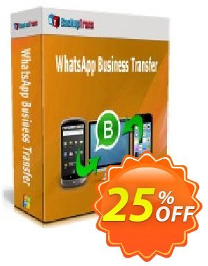 Backuptrans WhatsApp Business Transfer (Business Edition) discount coupon 10% OFF Backuptrans WhatsApp Business Transfer (Business Edition), verified - Special promotions code of Backuptrans WhatsApp Business Transfer (Business Edition), tested & approved