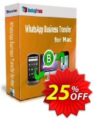 Backuptrans WhatsApp Business Transfer for Mac discount coupon 22% OFF Backuptrans WhatsApp Business Transfer for Mac, verified - Special promotions code of Backuptrans WhatsApp Business Transfer for Mac, tested & approved