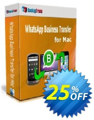 Backuptrans WhatsApp Business Transfer for Mac (Business Edition) Coupon discount 10% OFF Backuptrans WhatsApp Business Transfer for Mac (Business Edition), verified. Promotion: Special promotions code of Backuptrans WhatsApp Business Transfer for Mac (Business Edition), tested & approved