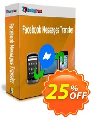 Backuptrans Facebook Messages Transfer discount coupon 22% OFF Backuptrans Facebook Messages Transfer, verified - Special promotions code of Backuptrans Facebook Messages Transfer, tested & approved