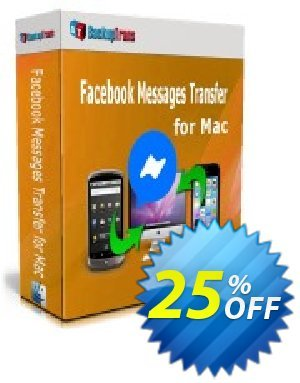 Backuptrans Facebook Messages Transfer for Mac 프로모션 코드 22% OFF Backuptrans Facebook Messages Transfer for Mac, verified 프로모션: Special promotions code of Backuptrans Facebook Messages Transfer for Mac, tested & approved