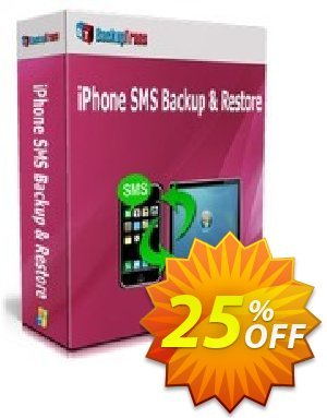 Backuptrans iPhone SMS Backup & Restore (Business Edition) Coupon discount Backuptrans iPhone SMS Backup & Restore (Business Edition) special discounts code 2019. Promotion: hottest promo code of Backuptrans iPhone SMS Backup & Restore (Business Edition) 2019