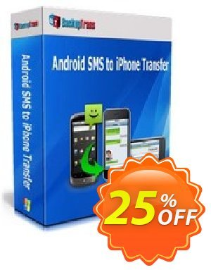 Backuptrans Android SMS to iPhone Transfer (Family Edition) Coupon discount Backuptrans Android SMS to iPhone Transfer (Family Edition) staggering promo code 2019. Promotion: stunning discount code of Backuptrans Android SMS to iPhone Transfer (Family Edition) 2019