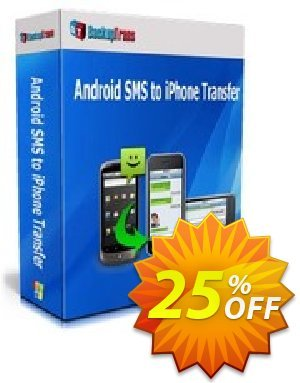 Backuptrans Android SMS to iPhone Transfer for Mac (Family Edition)  가격을 제시하다