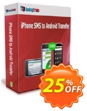 Backuptrans iPhone SMS to Android Transfer (Business Edition) Coupon discount Backuptrans iPhone SMS to Android Transfer (Business Edition) awful sales code 2020. Promotion: wondrous promotions code of Backuptrans iPhone SMS to Android Transfer (Business Edition) 2020
