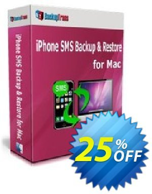 Backuptrans iPhone SMS Backup & Restore for Mac discount coupon Backuptrans iPhone SMS Backup & Restore for Mac (Personal Edition) imposing sales code 2021 - staggering promotions code of Backuptrans iPhone SMS Backup & Restore for Mac (Personal Edition) 2021