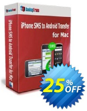 Backuptrans iPhone SMS to Android Transfer for Mac (Personal Edition) Coupon discount Backuptrans iPhone SMS to Android Transfer for Mac (Personal Edition) excellent promotions code 2020 - dreaded discounts code of Backuptrans iPhone SMS to Android Transfer for Mac (Personal Edition) 2020