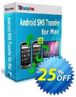 Backuptrans Android SMS Transfer for Mac (Business Edition) Coupon discount Backuptrans Android SMS Transfer for Mac (Business Edition) exclusive discount code 2020 - special offer code of Backuptrans Android SMS Transfer for Mac (Business Edition) 2020