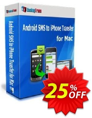 Backuptrans Android SMS to iPhone Transfer for Mac (Personal Edition) Coupon discount Backuptrans Android SMS to iPhone Transfer for Mac (Personal Edition) staggering deals code 2019 - stunning sales code of Backuptrans Android SMS to iPhone Transfer for Mac (Personal Edition) 2019