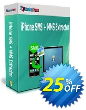 Backuptrans iPhone SMS + MMS Extractor 優惠券,折扣碼 Holiday Deals,促銷代碼: staggering deals code of Backuptrans iPhone SMS + MMS Extractor (Personal Edition) 2021