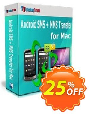 Backuptrans Android SMS + MMS Transfer for Mac discount coupon Holiday Deals - marvelous offer code of Backuptrans Android SMS + MMS Transfer for Mac (Personal Edition) 2020