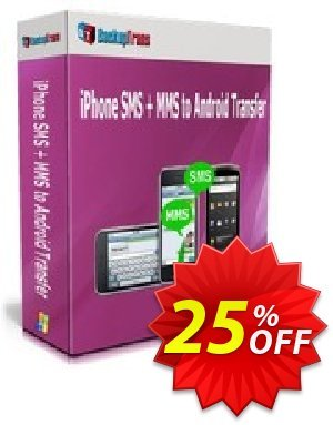 Backuptrans iPhone SMS + MMS to Android Transfer (Personal Edition) discount coupon Holiday Deals - awful discounts code of Backuptrans iPhone SMS + MMS to Android Transfer (Personal Edition) 2020