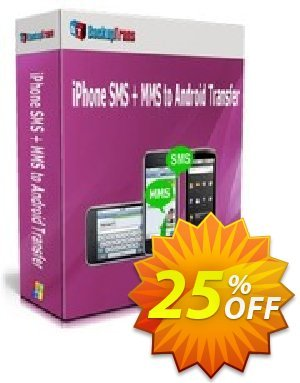 Backuptrans iPhone SMS + MMS to Android Transfer (Family Edition) discount coupon Holiday Deals - amazing promotions code of Backuptrans iPhone SMS + MMS to Android Transfer (Family Edition) 2021