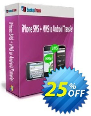 Backuptrans iPhone SMS + MMS to Android Transfer (Business Edition) discount coupon Holiday Deals - super sales code of Backuptrans iPhone SMS + MMS to Android Transfer (Business Edition) 2021