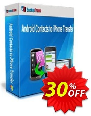 Backuptrans Android Contacts to iPhone Transfer (One-Time Usage) Coupon, discount Backuptrans Android Contacts to iPhone Transfer (One-Time Usage) special deals code 2019. Promotion: hottest sales code of Backuptrans Android Contacts to iPhone Transfer (One-Time Usage) 2019
