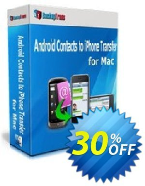 Backuptrans Android Contacts to iPhone Transfer for Mac (Business Edition) Coupon discount Backuptrans Android Contacts to iPhone Transfer for Mac (Business Edition) imposing deals code 2019 - staggering sales code of Backuptrans Android Contacts to iPhone Transfer for Mac (Business Edition) 2019
