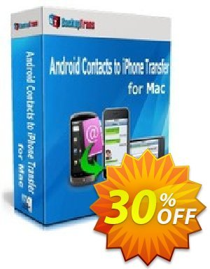 Backuptrans Android Contacts to iPhone Transfer for Mac (One-Time Usage) discount coupon Backuptrans Android Contacts to iPhone Transfer for Mac (One-Time Usage) stirring offer code 2021 - imposing deals code of Backuptrans Android Contacts to iPhone Transfer for Mac (One-Time Usage) 2021