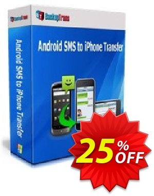 Backuptrans Android SMS to iPhone Transfer for Mac (Family Edition)  세일