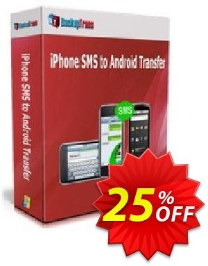 Backuptrans iPhone SMS to Android Transfer (One-Time Usage) Coupon discount Backuptrans iPhone SMS to Android Transfer (One-Time Usage) marvelous promotions code 2020. Promotion: excellent discounts code of Backuptrans iPhone SMS to Android Transfer (One-Time Usage) 2020