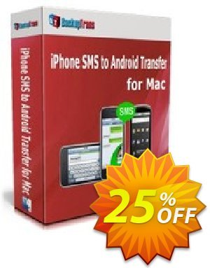 Backuptrans iPhone SMS to Android Transfer for Mac (One-Time Usage) Coupon discount Backuptrans iPhone SMS to Android Transfer for Mac (One-Time Usage) wondrous sales code 2020 - marvelous promotions code of Backuptrans iPhone SMS to Android Transfer for Mac (One-Time Usage) 2020