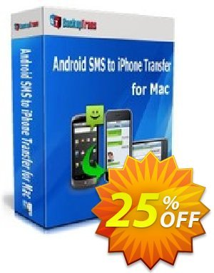 Backuptrans Android SMS to iPhone Transfer for Mac (Family Edition)  할인