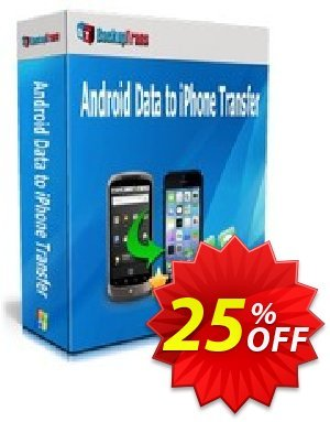 Backuptrans Android Data to iPhone Transfer (Business Edition) Coupon discount Backuptrans Android Data to iPhone Transfer (Business Edition) awful offer code 2020 - awful deals code of Backuptrans Android Data to iPhone Transfer (Business Edition) 2020