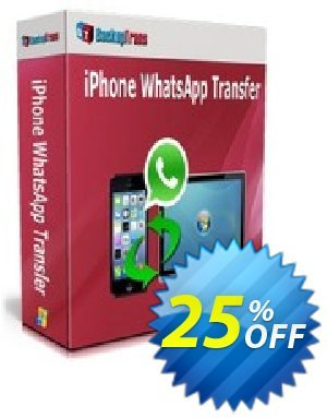 Backuptrans iPhone WhatsApp Transfer 프로모션 코드 Backuptrans iPhone WhatsApp Transfer (Personal Edition) wondrous sales code 2020 프로모션: marvelous promotions code of Backuptrans iPhone WhatsApp Transfer (Personal Edition) 2020