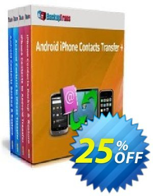 Backuptrans Android iPhone Contacts Transfer + (Family Edition) Coupon discount Holiday Deals. Promotion: special deals code of Backuptrans Android iPhone Contacts Transfer + (Family Edition) 2020