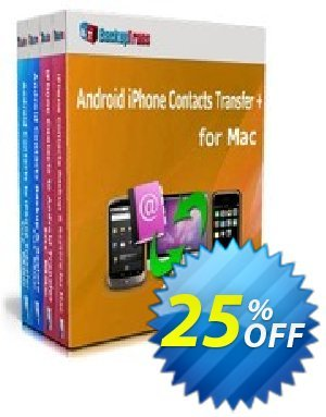 Backuptrans Android iPhone Contacts Transfer + for Mac discount coupon Holiday Deals - awesome discount code of Backuptrans Android iPhone Contacts Transfer + for Mac (Personal Edition) 2020