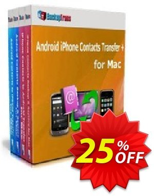 Backuptrans Android iPhone Contacts Transfer + for Mac (Family Edition) discount coupon Holiday Deals - wonderful promo code of Backuptrans Android iPhone Contacts Transfer + for Mac (Family Edition) 2020