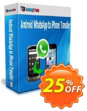 Backuptrans Android WhatsApp to iPhone Transfer discount coupon Backuptrans Android WhatsApp to iPhone Transfer (Personal Edition) excellent discount code 2020 - dreaded offer code of Backuptrans Android WhatsApp to iPhone Transfer (Personal Edition) 2020