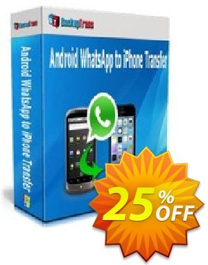 Backuptrans Android WhatsApp to iPhone Transfer (Business Edition) Coupon discount Backuptrans Android WhatsApp to iPhone Transfer (Business Edition) wondrous discounts code 2020 - marvelous promo code of Backuptrans Android WhatsApp to iPhone Transfer (Business Edition) 2020
