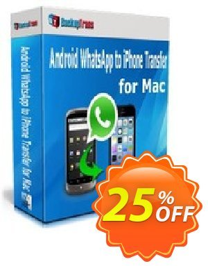 Backuptrans Android WhatsApp to iPhone Transfer for Mac (Family Edition) discount coupon Backuptrans Android WhatsApp to iPhone Transfer for Mac (Family Edition) awful sales code 2021 - awful promotions code of Backuptrans Android WhatsApp to iPhone Transfer for Mac (Family Edition) 2021