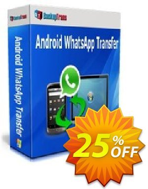 Backuptrans Android WhatsApp Transfer(Personal Edition) Coupon, discount Backuptrans Android WhatsApp Transfer(Personal Edition) exclusive offer code 2019. Promotion: special deals code of Backuptrans Android WhatsApp Transfer(Personal Edition) 2019