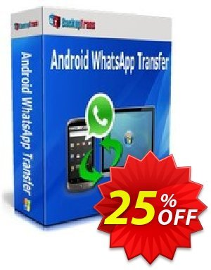 Backuptrans Android WhatsApp Transfer(Business Edition) Coupon, discount Backuptrans Android WhatsApp Transfer(Business Edition) wonderful promo code 2019. Promotion: awesome discount code of Backuptrans Android WhatsApp Transfer(Business Edition) 2019