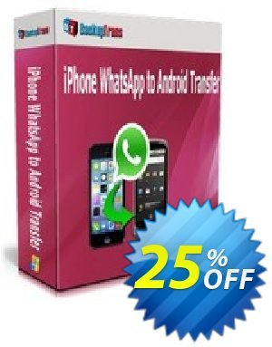 Backuptrans iPhone WhatsApp to Android Transfer discount coupon Backuptrans iPhone WhatsApp to Android Transfer(Personal Edition) imposing deals code 2020 - staggering sales code of Backuptrans iPhone WhatsApp to Android Transfer(Personal Edition) 2020