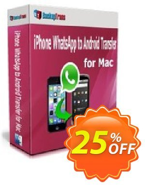 Backuptrans iPhone WhatsApp to Android Transfer for Mac(Personal Edition) Coupon discount Backuptrans iPhone WhatsApp to Android Transfer for Mac(Personal Edition) formidable promo code 2020 - impressive discount code of Backuptrans iPhone WhatsApp to Android Transfer for Mac(Personal Edition) 2020