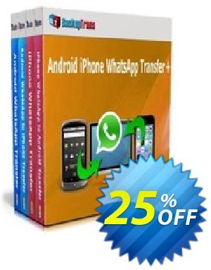 Backuptrans Android iPhone WhatsApp Transfer plus (Family Edition) discount coupon Holiday Deals - excellent sales code of Backuptrans Android iPhone WhatsApp Transfer +(Family Edition) 2020