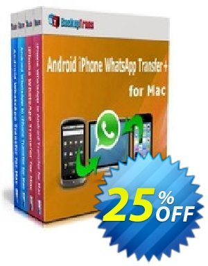 Backuptrans Android iPhone WhatsApp Transfer plus for Mac discount coupon Holiday Deals - wondrous offer code of Backuptrans Android iPhone WhatsApp Transfer + for Mac(Personal Edition) 2020
