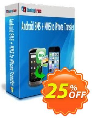 Backuptrans Android SMS + MMS to iPhone Transfer割引コード・Holiday Deals キャンペーン:best offer code of Backuptrans Android SMS + MMS to iPhone Transfer (Personal Edition) 2020